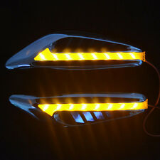 2pcs SUV Auto Car Mirror Side Fender Yellow Turn Signal Indicator Light LED Lamp