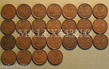 NICE 1937 TO 1960 PENNY SET (25 COINS) COPPER       >>FREE $HIPPING IN CANADA!<<
