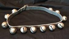 Vintage Sleigh Bells On Leather Belt