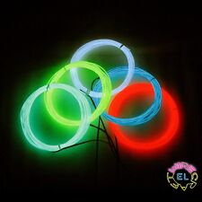 Ultra EL Wire - £6p/m - 50cm to 25m With Connector - Brightest EL Wire Available