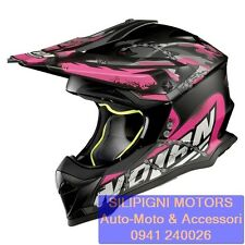 Motocross Casco Nolan N53 no Entry Matt-neroi-pink Taglia S