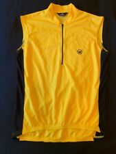 Canari Neon Yellow Cycling Jersey Size M Half Zip Back Pocket Bike Shirt
