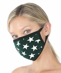 [3 Pack] Soft Cotton Face Mask Double Layer Breathable Reusable Washable Color