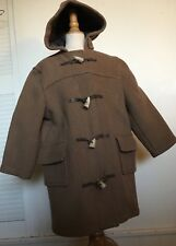 Montgomery John Partridge Winter Boys Wool DUFFEL Toggle CARAMEL Coat Hood M 6 8