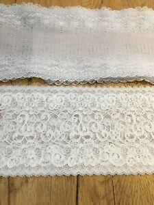 New 5inch White Lace fab qaulity  from £1.40   meter  New 5inch Cream lace