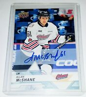 2018-19 UD CHL ALLAN MCSHANE AUTO ROOKIE MONTREAL CANADIENS