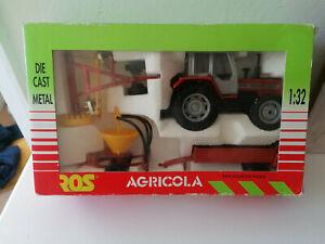 VINTAGE ROS AGRITEC MASSEY FERGUSON 1014 PLUS TRAILER & SPREADER - 1.32 - NEW IN