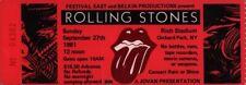 ROLLING STONES 1981 TATTOO YOU TOUR RICH STADIUM CONCERT TICKET STUB / EX 2 NMT