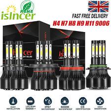 4-Sides H4 H7 30000LM LED Canbus Error free Car Headlight KIT 6500K Bulbs White