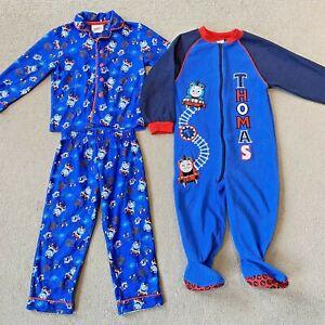 Thomas the Tank Engine Boys Pyjamas Bundle Blue Fleece All in One  2-3 Years