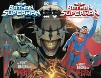 BATMAN SUPERMAN #1 Marquez Batman Cover + Superman Connecting Set 2019 NM+ 8/28