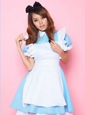 Blue Japanese Sweet Maid Cosplay Fancy Dress, Valentine Party Costume Outfit S-M