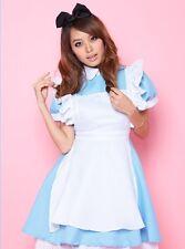 Blue japanese sweet maid cosplay fancy dress, valentine fête costume costume s-m