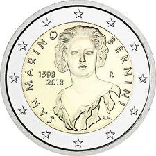 San Marino 2 Euro 2018 Gian Lorenzo Bernini Gedenkmünze im Folder