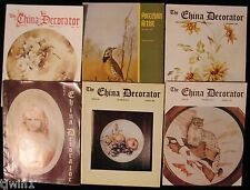 LOT OF 5 THE CHINA DECORATOR VINTAGE MAGAZINES AND PORCELAIN ARTIST SEP 1979