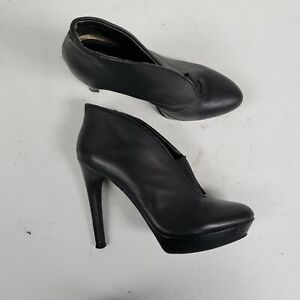 Jessica Simpson Estelleh Black Leather Heels Womens Size 8.5 B