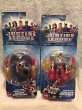 2 rare 2004 justice league figures silver storm set hawkgirl and superman