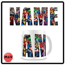 Marvel Personalized Logo Mug. Your Name, Spiderman, hulk, avengers, Xmen