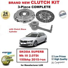 FOR SKODA SUPERB Mk III 2.0TDi 150bhp 2015->on BRAND NEW 3PC CLUTCH KIT and CSC