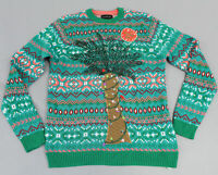 Blizzard Bay Men's Palm Tree Lights Ugly Christmas Sweater CD4 Green Medium
