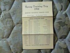 1924 BOSTON BRAVES MEDIA GUIDE Press Book ROSTER Yearbook Baseball Atlanta AD