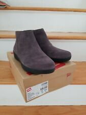 Fitflop NWB Sumi Steel Grey Suede Bootie Boot 9 Rare