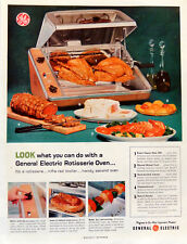 Vintage 1959 Ge General Electric Rotisserie Oven advertisement print ad art