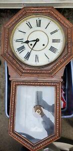 "Rare Waterbury 12"" Heron Wall Clock 20"" Long. Not Working"