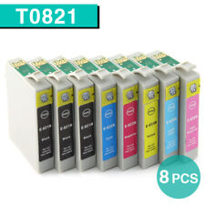 8x Ink Cartridges T0821 81N 82N for Epson 1430 Artisan 725 730 835 837 Non-OEM