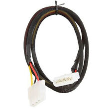 36 Inches 4 Pin Molex Power Extension Cable IDE Black Sleeved