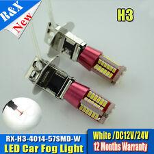 2 x H3 3014 CANBUS SMD LED 12V Headlight Xenon Super White Fog Lamp Globes Bulbs