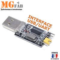 Module adaptateur CH340G USB TTL Serial UART sortie 5V 3.3V | ARDUINO RS232