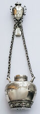 ANTIQUE 1800 STERLING SILVER CHATELAINE KENDALL & JENKINS LARGE PERFUME