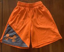 NWT UNDER ARMOUR Boys Shorts Neon Orange Size 6 Retail $18