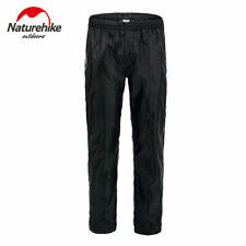 Classic Waterproof Work Rain Pants Cycling Hiking Over Trousers Men Women Black