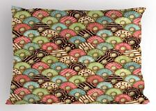 Retro Tea Party Pillow Sham Decorative Pillowcase 3 Sizes Bedroom Decoration