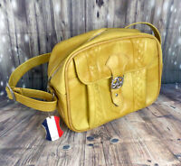 Vintage 1970s Mustard Yellow American Tourister Carry On Luggage Bag Overnight