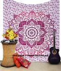 Indian Mandala Tapestry BOHO Picnic Sheet QUEEN Bed Spread HIPPIE Wall Hanging
