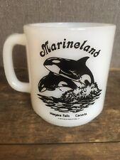 Vtg Glasbake Marineland Coffee Mug Cup Niagara Falls Canada Orca Whale Holer