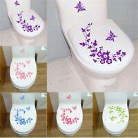Bathroom Toilet Decorative Sticker Butterfly Flower Vine Wall Stickers Decals