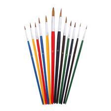 12Pcs Artists Fine Detail Brush Set Model Maker Paint Brushes Colorful Bars