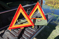 Safety Triangle Kit Pack of 2  Breakdown Reflective Kit. Made in USA  Model 1005