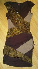 2B Bebe Gold brown sexy knit Bandage Dress size. Small club wear nwt