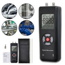 Manometer Digital Air Pressure Meter Differential Gas Tester Tool LCD Gauge