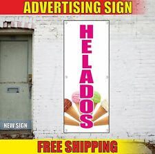 Helados Banner Advertising Vinyl Sign Flag Ice Cream Topping Cold Drinks Fair 24