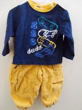 Infant Boy Pants Corduroys and Skateboard Theme Shirt EUC 9-12 Months Outfit