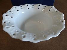 "STUNNING Mikasa Porcelain Pierced White Ruffled Bowl 5.5"" #RLO27-252 RUFFLES NEW"