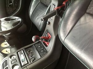FITS MG MGF MK1 1995-2000 GEAR BOOT ONLY LEATHER IN BLACK AND RED 2 TONE
