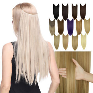 Transparent Secret Line Headband Long Hairpiece Invisible Wire Hair Extensions