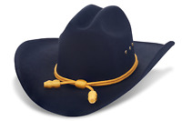 Western Cowboy Hat - Cattleman's With Cavalry Band - Black Large/XLarge